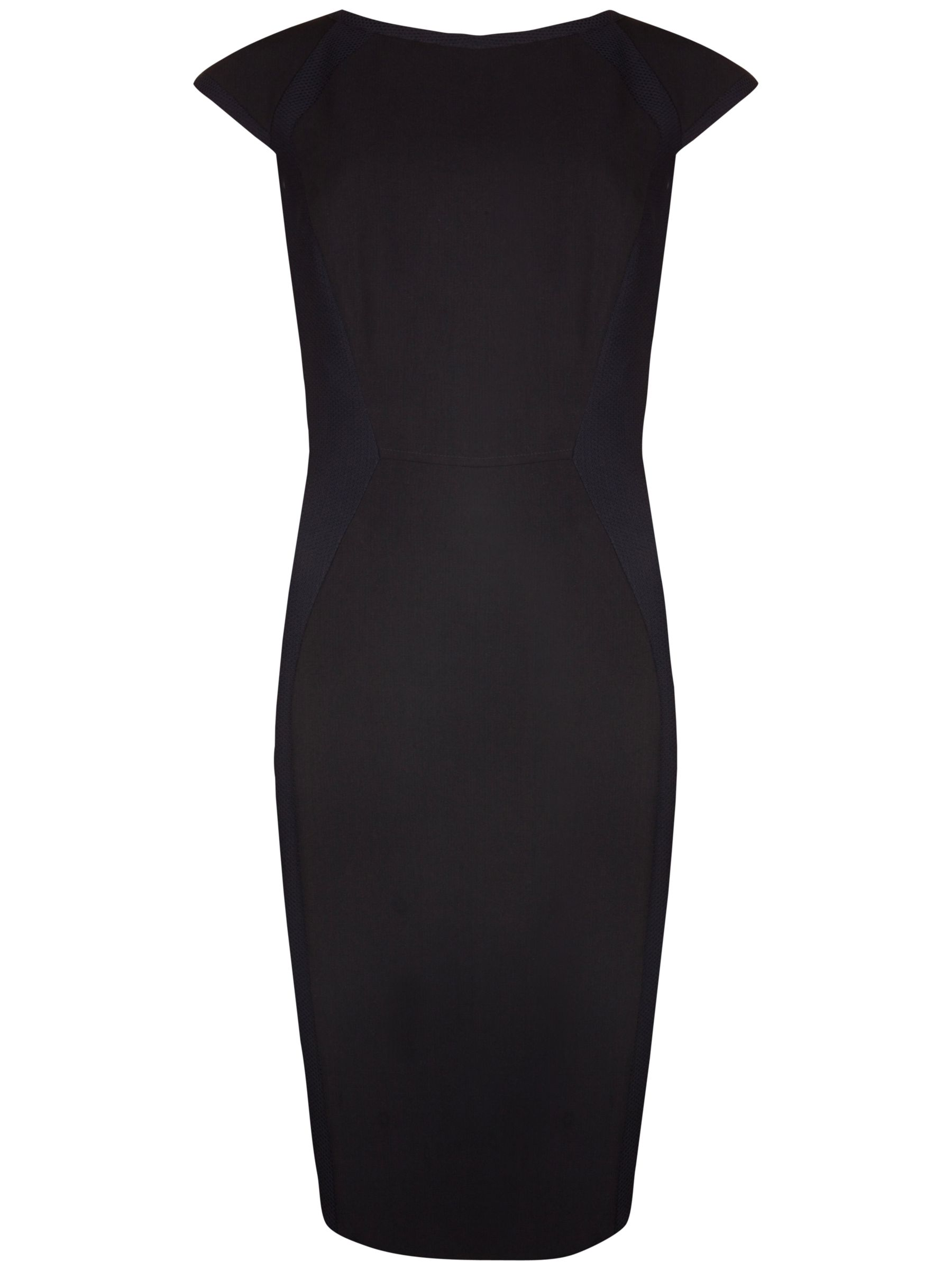 ted baker contrast texture panelled dress black, ted, baker, contrast, texture, panelled, dress, black, ted baker, 1|2, clearance, womenswear offers, womens dresses offers, women, womens dresses, special offers, fashion magazine, womenswear, men, brands l-z, 1631365
