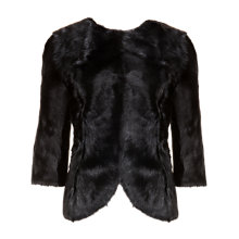 Buy Ted Baker Goat Hair Jacket, Black Online at johnlewis.com