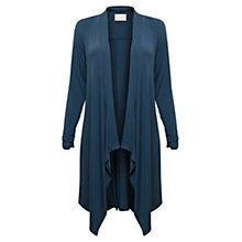 Buy East Waterfall Jersey Cardigan, Indigo Online at johnlewis.com