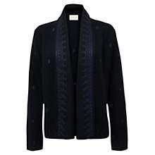 Buy East Embroidered Knit Jacket, Ink Online at johnlewis.com