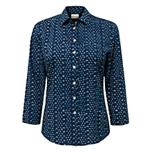 Buy East Ariya Print Shirt, Indigo Online at johnlewis.com