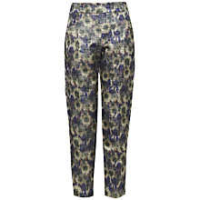 Buy French Connection Moire Meadow Trousers, Blue/Green Online at johnlewis.com