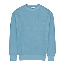 Buy Reiss Laine Raglan Crew Neck Jumper, Soft Blue Online at johnlewis.com