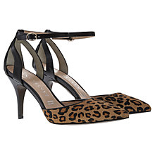 Buy Mint Velvet Alexa Leather Court Shoes, Leopard Online at johnlewis.com