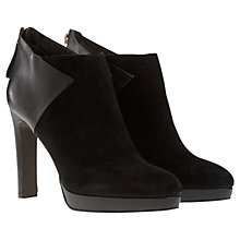 Buy Mint Velvet Lenni Leather/Suede Blocked Ankle Boots Online at johnlewis.com