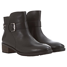 Buy Mint Velvet Ivy Leather Biker Boots, Black Online at johnlewis.com