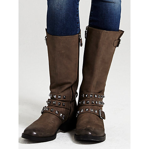 Buy Mint Velvet Zoe Leather Calf Boots Online at johnlewis.com