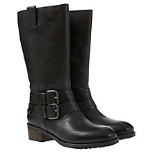 Buy Mint Velvet Maddy Leather Buckle Boots, Black Online at johnlewis.com