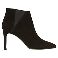 Buy Hobbs Kira Heeled Chelsea Ankle Boots, Black Suede Online at johnlewis.com