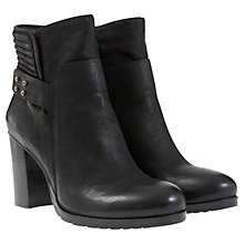 Buy Mint Velvet Mila Leather Nubuck Biker Boots, Black Online at johnlewis.com