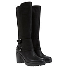 Buy Mint Velvet Scarlet Leather Buckle Boots, Black Online at johnlewis.com