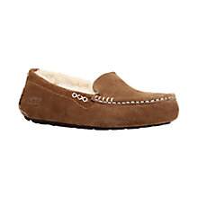 Buy UGG Ansley Suede Slippers, Chestnut Online at johnlewis.com