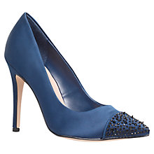 Buy Carvela Lacey Satin Court Shoes, Navy Online at johnlewis.com