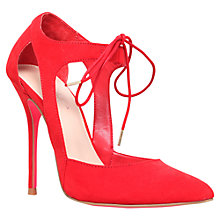 Buy Carvela Gordon Lace Up Cut Out Court Heels, Red Online at johnlewis.com