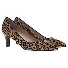 Buy Mint Velvet Amaya Leather Court Shoes, Leopard Online at johnlewis.com