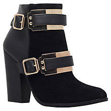 Buy Carvela Seed Metal Panel High Heeled Ankle Boots, Black Online at johnlewis.com
