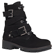 Buy Carvela Sand Leather Calf Boots, Black Online at johnlewis.com