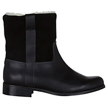 Buy NW3 by Hobbs Duke Leather & Suede Faux Fur Lined Boots, Black Online at johnlewis.com