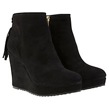 Buy Mint Velvet Livvy Leather Wedge Heel Ankle Boots Online at johnlewis.com
