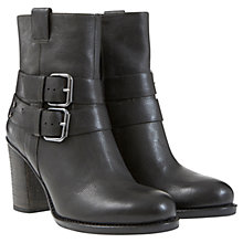 Buy Mint Velvet Mable Leather Buckle Boots, Black Online at johnlewis.com