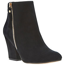 Buy Dune Ninety Suede High Heel Ankle Boots, Black Online at johnlewis.com