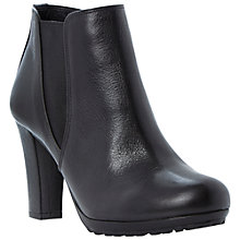 Buy Dune Pug Leather Ankle Boots, Black Online at johnlewis.com