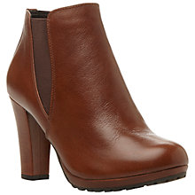 Buy Dune Pug Leather Ankle Boots, Tan Online at johnlewis.com