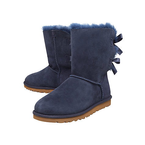Buy UGG Bailey Bow Twinface Boots, Navy Online at johnlewis.com