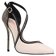 Buy Carvela Gretal Twisted Strap Court Heels, Black/Nude Online at johnlewis.com