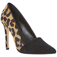 Buy Dune Analise Contrast Vamp Pointed Toe Court Shoes Online at johnlewis.com