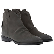 Buy Mint Velvet Amy Leather Nubuck Boots, Charcoal Online at johnlewis.com