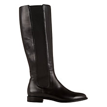 Buy Hobbs Ashley Slip On Knee High Boots, Black Online at johnlewis.com