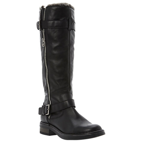 Buy Dune Tooding Faux Fur Lined Knee High Leather Boots Online at johnlewis.com
