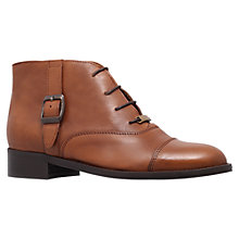 Buy Carvela Smart Leather Flat Lace Up Ankle Boots Online at johnlewis.com