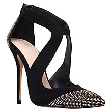 Buy Carvela Genuine Cut Out Detail Court Shoes, Black Online at johnlewis.com