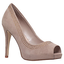 Buy Carvela Larissa Suedette Peep Toes Online at johnlewis.com