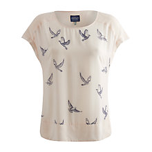 Buy Joules Joy Dropped Sleeve Top, Cream Doves Online at johnlewis.com