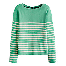 Buy Joules Edie Reversible Jumper, Spring Green Online at johnlewis.com