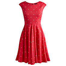 Buy Joules Amelie Dress, Bright Pink Spot Online at johnlewis.com