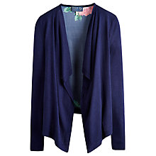 Buy Joules Print Back Cardigan, French Navy Online at johnlewis.com