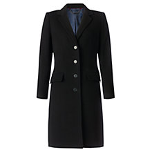 Buy Jigsaw Classic Coating City Coat, Black Online at johnlewis.com