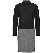 Buy Jaeger Puppytooth Dress, Black / Ivory Online at johnlewis.com