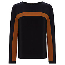 Buy Jaeger Silk Colour Block Blouse Online at johnlewis.com