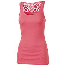 Buy Fat Face Lace Back Vest Top, Dusty Rose Online at johnlewis.com