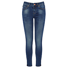 Buy Oasis Isabella Zip Hem Jeans, Denim Online at johnlewis.com