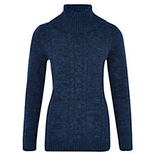 Buy Viyella Roll Neck Cable Jumper, Indigo Online at johnlewis.com
