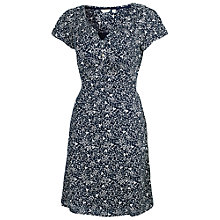 Buy Fat Face Mono Leaf Dress, Navy Online at johnlewis.com