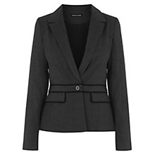 Buy Warehouse Check Panelled Jacket, Light Grey Online at johnlewis.com