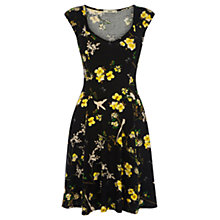 Buy Oasis Butterfly Bird Print Dress, Black Multi Online at johnlewis.com