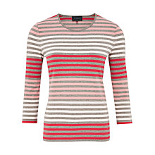 Buy Viyella Striped Jersey Top, Mink Online at johnlewis.com